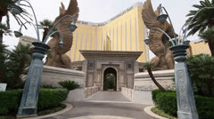 Entrance to Mandalay Bay Hotel and Casino Resort, Las Vegas Stock Footage