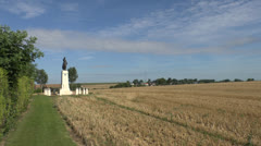 The 34th British Division Memorial in Pozieres, Somme, France. Stock Footage