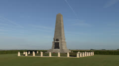 He Australian 1st Division Memorial, Pozieres, France. Stock Footage