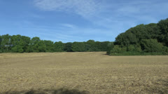 View towards Mametz Wood across a field in the Somme, Picardy, France. Stock Footage