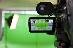 Stock Photo of viewfinder on an hd tv camera