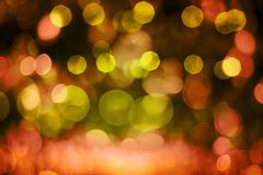 Defocussed red and yellow light pattern Stock Photos