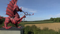 The 38th (Welsh) Division Memorial, Mametz Wood, Somme, France. Stock Footage