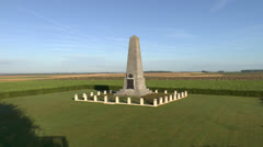 The Australian 1st Division Memorial, Pozieres, Somme, France. Stock Footage