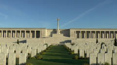 The CWGC Pozieres British Cemetery, Ovillers-La Boisselle, France. Stock Footage