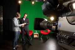 TV-studio valmisteet Kuvituskuvat