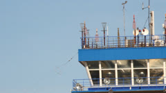 Air traffic control tower. Ufa Airport Stock Footage