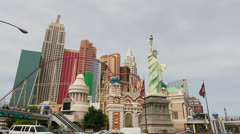 New York-New York Hotel in Las Vegas Stock Footage