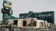 Outside View of MGM Grand Hotel, Las Vegas Stock Footage