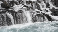 Hraunfossar Falls Stock Footage