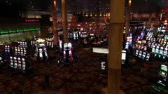 Inside the Casino in Las Vegas Stock Footage
