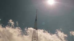 Radio Tower Time Lapse Pull Out Stock Footage