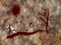 Abstract Cave Painting Stock Footage