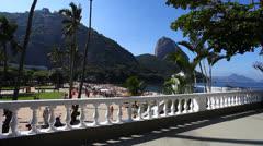 Red beach in Rio de Janeiro - stock footage