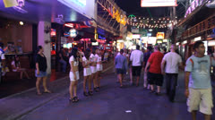 POV in Red light district of Pattaya City, Thailand. Stock Footage
