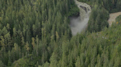 Winding River & Waterfall - stock footage