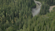 Stock Video Footage of Winding River & Waterfall