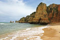 dona ana beach, lagos, portugal - stock photo