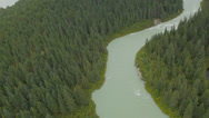 Stock Video Footage of Flying Down Glacier River