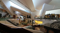 Interior of Crystals Shopping Centre, Las Vegas Stock Footage