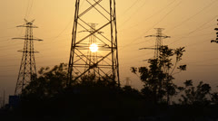 Power transmission - stock footage