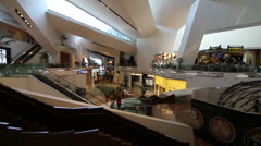 Interior of Crystals Shopping Mall, Las Vegas Stock Footage