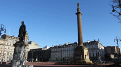 George Square Glasgow Scotland Stock Footage