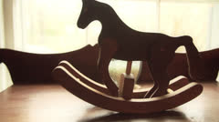 Small Rocking Horse in Super Slow Motion Stock Footage