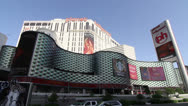 Stock Video Footage of Exterior of Planet Hollywood Resort and Casino, Las Vegas