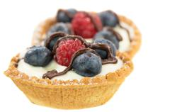 Mini Fruit Tart Stock Photos