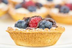 Mini Fruit Tart - stock photo
