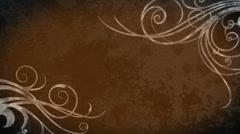 Flourish Grunge Background - Orange Stock Footage