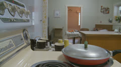 1970's kitchen - dolly 7 - property release Stock Footage