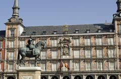 plaza mayor square. madrid. spain. - stock photo