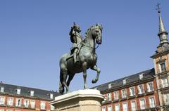 Plaza mayor square. madrid. spain. Stock Photos