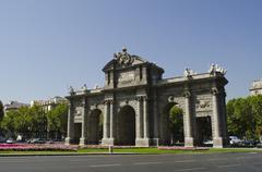 The alcala gate. madrid. spain. Stock Photos