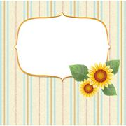 Sunflower striped background Stock Illustration