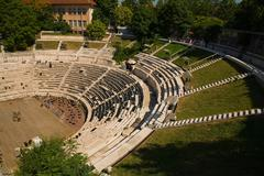 Ancient amphitheater in plovdiv Stock Photos