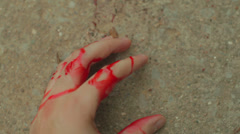 car accident injury blood bloody hand 3 - stock footage