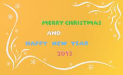 merry christmas and happy new year 2013 - stock illustration