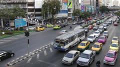 Bangkok Rush Hour traffic - stock footage