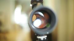 Telescope optics optical instrument 2 Stock Footage
