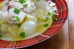 ukha. russianl fish soup. - stock photo