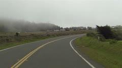 Hollywood movie set equipment California coastal highway POV HD 083 Stock Footage