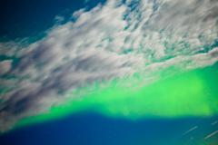 aurora borealis (northern lights) display - stock photo