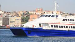 Fast Ferry. Tracking Video - stock footage