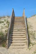 Stairway to a public beach access vertical Stock Photos