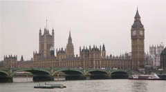 Parliament and Westminster Bridge - stock footage