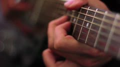 Famous Guitarist Playing Hands Up Close Stock Footage
