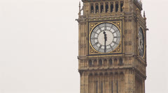Parliament Big Ben 11.30 am - stock footage